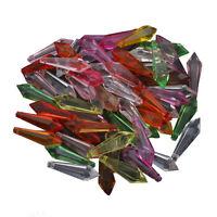 100 Kunststoffperlen Luxus Acrylperlen Plastik Facettiert Tropfen 22mm Bunt D297