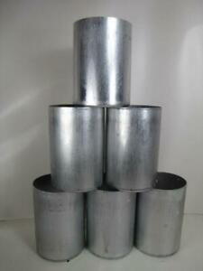 "(6) 3"" x 4"" Pillar Candle Molds - Round Seamless Aluminum with Contoured Base"