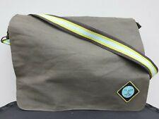 Designer Ted Baker Satchel Bag. Canvas, Brown W/Shoulder Strap.