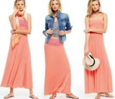 Victoria's Secret Fold Over Multi-way Convertible Peach Pink Maxi Dress Small