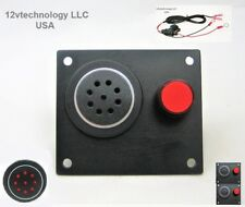 """12V Battery Low Voltage Alert Detector Level Alarm Monitor 60"""" wired  w/ Mute"""