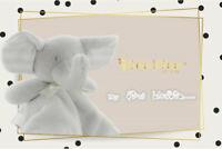 [3 Sets] Kidz Kiss Baby Security Blanket / Baby Comforter [Elephant / Grey]