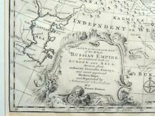 1747 Large Map Emanuel Bowen Russia Russian Empire Framed China Great Wall Tibet