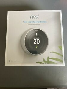 Nest Learning Thermostat 3rd Generation. Stainless Steel.