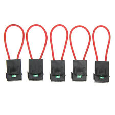 5Pcs 30A Gauge ATC ATO Fuse Holder In-line AWG Red Wire Copper 12V Power Blade