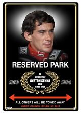 AYRTON SENNA PARKING/SOUVENIR  SIGN