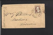 NEW BEDFORD, MASSACHUSETTS 1856 #11 COVER S.O.N. CL, BRISTOL CO. 1792/OP.