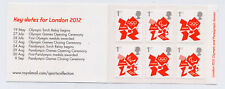 GB 2012 6 x 1st CLASS OLYMPIC SELF ADHESIVE STAMPS CYLINDER W1 BOOKLET MB10