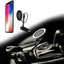 magnetic wireless car charger With USB port 360 degree rotation phone holder