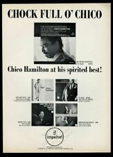 1966 Chico Hamilton photo Impulse Records vintage print ad