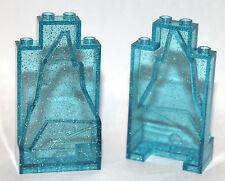 2 brand new lego translucent sparkling blue rocks ROCK panel 41062 disney castle