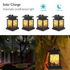 Solar Powered Lantern Hanging Light Outdoor Garden LED Candle Lamp Waterproof