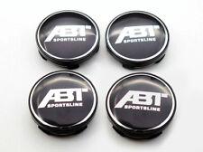 AUDI ABT Logo 4 x 135mm Schwarz Black Allufelgen Nabenkappen Nabendeckel Cap
