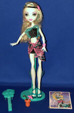 Monster High Doll Lagoona Blue Skull Shores Loose w/Stand Accessories Mattel