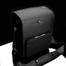 Leather camera bag for SLR camera | Vintage Black | Gariz Design