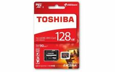 Genuine Toshiba Exceria 128Gb MicroSD SDXC Card with Adapter U3 90mb/s UK Seller