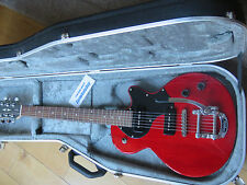 Cort Sunset Jr (Red) with Bigsby Tremolo + Black Hiscox Guitar Case - Immaculate