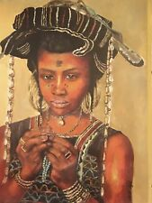 painting of a Wodaabe Girl, Giclee