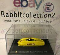 "DIE CAST "" FIAT ABARTH 500 RECORD PININ FARINA - 1958 "" + TECA  BOX 2 SCALA 1/43"