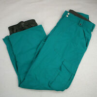 BURTON Dryride White Collection Teal Torquoise Ski Snowboard Smuggler Pants L