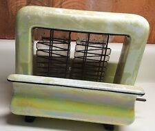 RARE!~1920s~TOASTRITE brand PORCELAIN Electric TOASTER~Yellow Pearl Luster~DECO