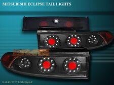 1995-1999 MITSUBISHI ECLIPSE LED JDM BLACK TAIL LIGHTS 3 PIECES