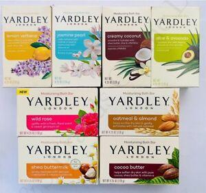 4 x Yardley London Moisturizing Bath Bar 120g - Choice of 8 Types