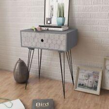Stylish Design Rectangular Bedside Cabinet Nightstand night table 1 Drawer Grey