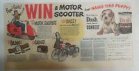 Dash Dog Food Ad: Name Puppy Win a Scooter Contest ! 1950 Size: 7.5  x 15 inches
