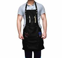 Barber Stylist Unisex(1 size fits all) Black Leather Work Waterproof Apron