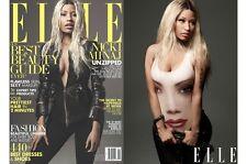 ELLE USA Magazine April 2013, Nicki Minaj,Ashton Kutcher,Alexander Skarsgard