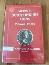 Studies in South Indian Coins Volume Vol 3 III by Narasimha Murthy - 1993