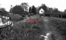 PHOTO  1974 TRIGG'S LOCK RIVER WEY SURREY SEEN FROM THE TOP END IN 1974.