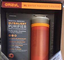 Grayl Ultralight Water Purifier Bottle & Filter Kit! Hiking Camping Backpacking