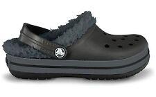 Crocband Mammoth Black/Graphite Lined Crocs Little Boys  Size 6/7