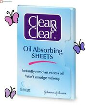 Clean & Clear Instant Oil-Absorbing Sheets 50 sheets- Pack Of 3