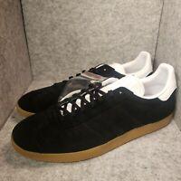 *New* Men's adidas Originals Gazelle Black/Gold/Gum EE5524 Size 13
