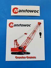 2 MANITOWOC LATTICE BOOM Crane Union Equipment Hardhat Stickers