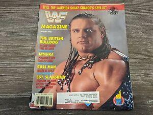 THE BRITISH BULLDOG Davey Boy Smith WWF MAGAZINE Wrestling August 1992 Issue