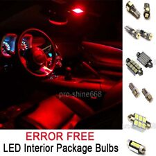 INTERIOR CAR LED ROOF LIGHT SMD PACKAGE BULBS KIT - RED FIT VW GOLF IV MK4