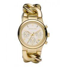 Michael Kors Orologio da Donna con Oro colore Cinturino Braccialetto e Bianco