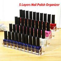 Support acrylique bâton lèvre présentoir perspex vernis ongles 5 rangée B7