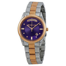 Michael Kors Colette Purple Dial Two-tone Ladies Watch MK6072