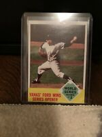 1962 Topps Whitey Ford 'Yanks Ford Wins Series Opener' #142 NY Yankees  Sharp!