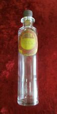 Antique Rare Shell Glass Bottle and Cork Stopper - 'Crude Petroleum' Label
