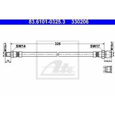 ATE Original Bremsschlauch, Bremsleitung VW 83.6101-0325.3