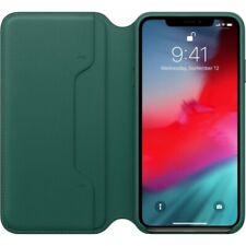 APPLE iPhone XS Max Leather Folio Book Case Forest Green MRX42ZM/A