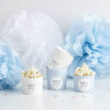 10 PASTEL BLUE FOOD PARTY CUPS HANGING DECORATION BABY SHOWER PARTY BOY GIRL