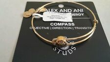 NWT ALEX AND ANI BRACELET ** SACRED STUDS COMPASS ** RETIRED ** GOLD TONE