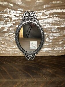 Antiqued Silver Oval Wall Mirror Hallway Bathroom Living Room Home Accent Decor